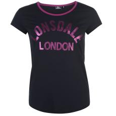 Lonsdale Logo női póló tengerészkék L