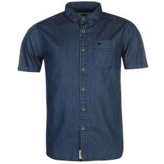 SoulCal Printed férfi rövid ujjú ing kék S
