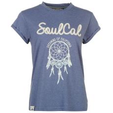 SoulCal Fashion Logo női póló kék M