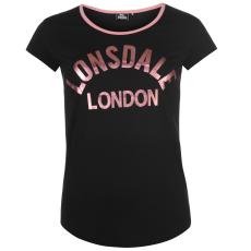 Lonsdale Logo női póló fekete XS