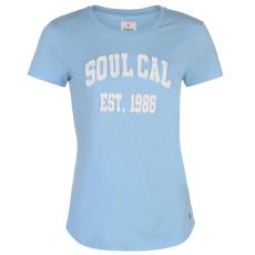 SoulCal Deluxe Graphic női póló kék M