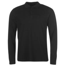 Pierre Cardin Férfi hosszú ujjú galléros póló fekete XL