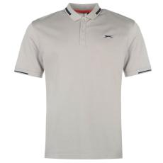 Slazenger Golf Pique férfi galléros póló szürke M