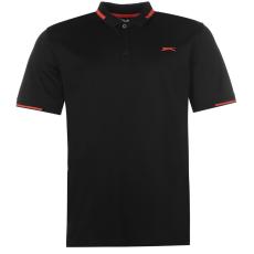 Slazenger Golf Pique férfi galléros póló fekete M