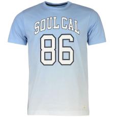 SoulCal Deluxe Gradient Print férfi póló kék S