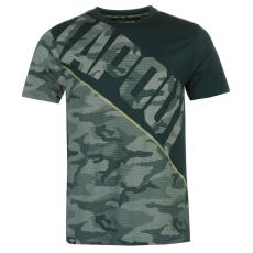 Tapout Camouflage Panel férfi póló türkiz XL