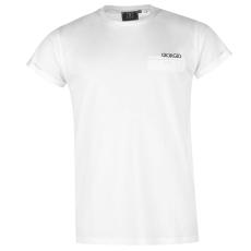 GIORGIO Essential Roll up Sleeve férfi póló fehér M