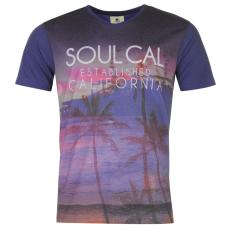 SoulCal Sublimation férfi póló kék M