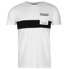 Kangol Block Stripe férfi póló fekete L