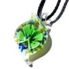 Ragyogj.hu Muránói üveg medál, csepp alakú - zöld