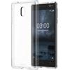 Nokia 3 gyári hybrid hátlap tok, átlátszó, CC-705