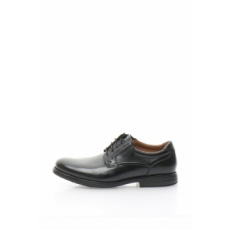Clarks , Hopton Walk Bőrcipő, Fekete, 9 (HOPTON-WALK-BLACK-LEATHER-9)