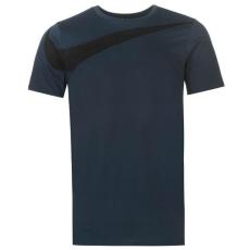 Nike Over Swoosh   férfi póló tengerészkék XL