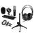 Electronic-Star auna CM003 mikrofon készlet V1, kondenzátoros mikrofon, USB-konverter, fülhallgató
