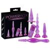 PowerBox - anál dildó és vibrátor szett (4 részes) - lila