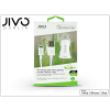 Jivo Apple iPhone 5/5S/5C/SE/iPad 4/iPad Mini Lightning szivargyújtó töltő adapter 1,2 m-es kábellel (Apple MFI engedélyes) - JIVO - 5V/2,1A - fehér