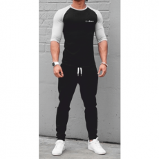 GymBeam Clothing Póló Fitted Sleeve Black - GymBeam