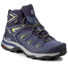Salomon Bakancs SALOMON - X Ultra 3 Mid Gtx W GORE-TEX 398691 22 V0 Crown Blue/Evening Blue/Sunny Lime