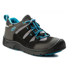 Keen Félcipő KEEN - Hikeport Wp 1017575 Black/Blue Jewel