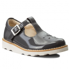 Clarks Félcipő CLARKS - Crown Wish Inf 261280696 Grey Patent