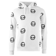 No Fear Forever Skull férfi kapucnis pulóver fehér S
