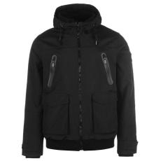 Firetrap Manor férfi kapucnis cipzáras bélelt kabát fekete M