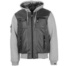 No Fear Lined férfi kapucnis cipzáras kabát sötétszürke XS