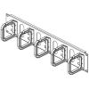 CONTEG kábel rögzítő gyűrűs panel 19' 2U 80/80