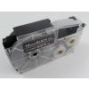 Utángyártott szalag Casio XR-12ABK, 12mm x 8m fehér nyomtatás / fekete alapon
