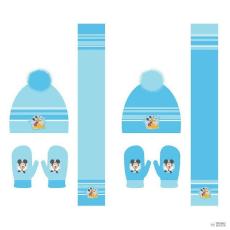 Disney szett sál kesztyű sapka Mickey Disney típus gyerek