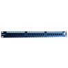 Excel-Networking Excel Cat.6 UTP 24 portos patchpanel, 1U, fekete 100-304