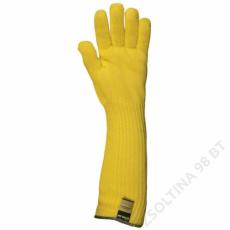 Euro Protection Kötött sárga kevlar kesztyű, 45 cm, 350°c, pamut belső -10