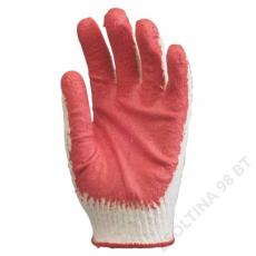 Euro Protection Mártott piros latex kesztyű, kötött, kevertszálas kézhát -10