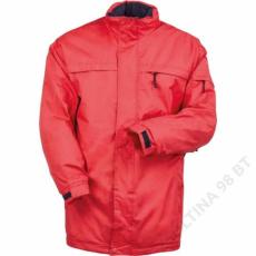 Coverguard POLE-NORD piros bélelt kabát -L