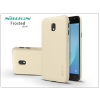 Nillkin Samsung J330F Galaxy J3 (2017) hátlap képernyővédő fóliával - Nillkin Frosted Shield - gold