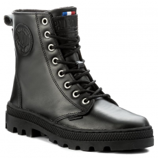 Palladium Bakancs PALLADIUM - Pallabosse Off Lea W 95527-008-M Black