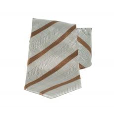 Saint Michael selyem nyakkendõ - Szürke-barna csíkos