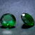 3 db csillogó cirkóniakő - smaragdzöld