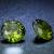 2 db csillogó cirkóniakő - oliva