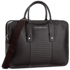 Tommy Hilfiger Laptoptáska TOMMY HILFIGER - Tailored Leather Computer Bag AM0AM02329 002