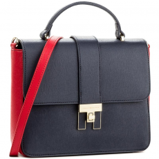 Tommy Hilfiger Táska TOMMY HILFIGER - Th Heritage Top Handle Satchel AW0AW04301 901