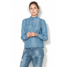 Only , Iamy Lyocell Fodros Farmering, Világoskék, 36 (15139103-MEDIUM-BLUE-DENIM-36)
