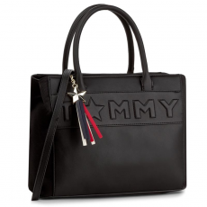 Tommy Hilfiger Táska TOMMY HILFIGER - Logo Story Tote AW0AW04698 002