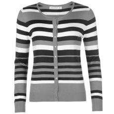Full Circle Stripe női gombos kardigán sötétszürke XL