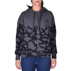 Adidas Aop Hoodie női cipzáras pulóver sötétszürke M