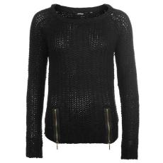 Golddigga Női cipzáras kötött pulóver fekete M