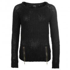 Golddigga Női cipzáras kötött pulóver fekete S