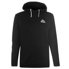 Lonsdale Sporty 2 Stripe férfi kapucnis pulóver fekete XL