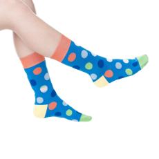 Wilky Big dots blue zokni többszínű