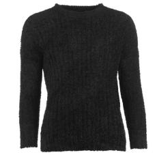Lee Cooper Női kerek nyakú kötött pulóver fekete 3XL